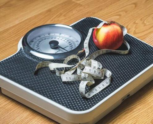 Vægttab vægt og æble