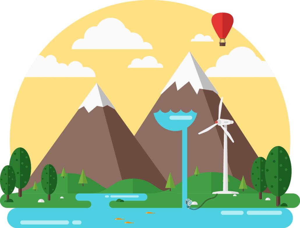 Oplagering af vand som energi i bjerge