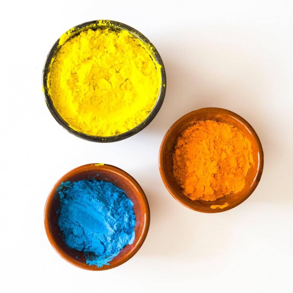 Farve pigment som kan bruges i mælkemaling